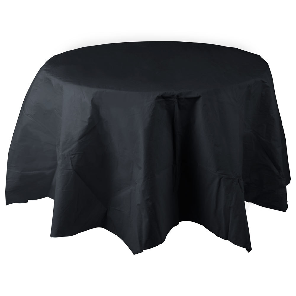 82 inch Black Velvet Tissue / Poly Tablecover 12 / Case
