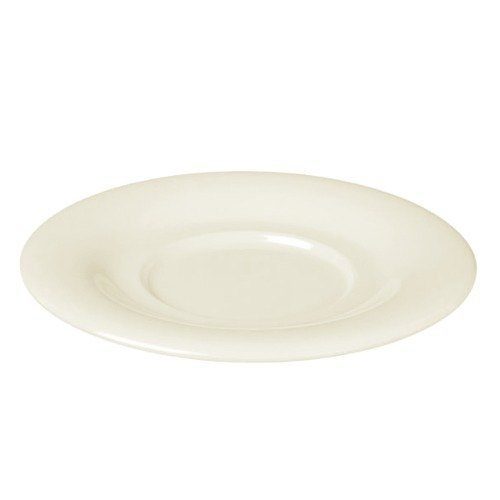 "5 1/2"" Ivory Melamine Saucer for 8 oz. Bouillon Cup and 4 oz. Salad Bowl - 12/Pack"