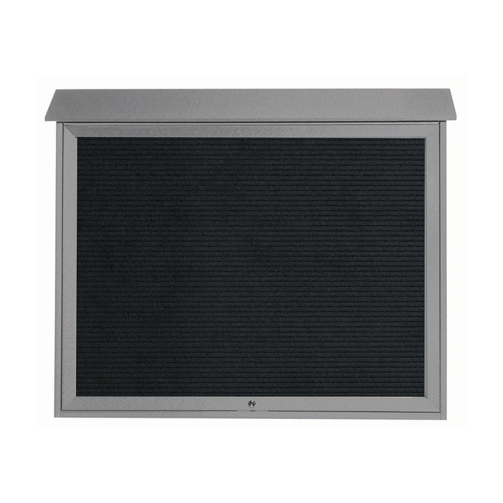 "36"" x 45"" Light Grey Outdoor Plastic Lumber Message Center with Letter Board - Single Top Hinged Door at Sears.com"