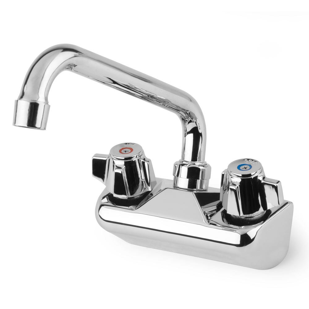 Regency Low Lead Wall Mount Bar Sink Faucet With 4 Centers And 8 Swing Spout