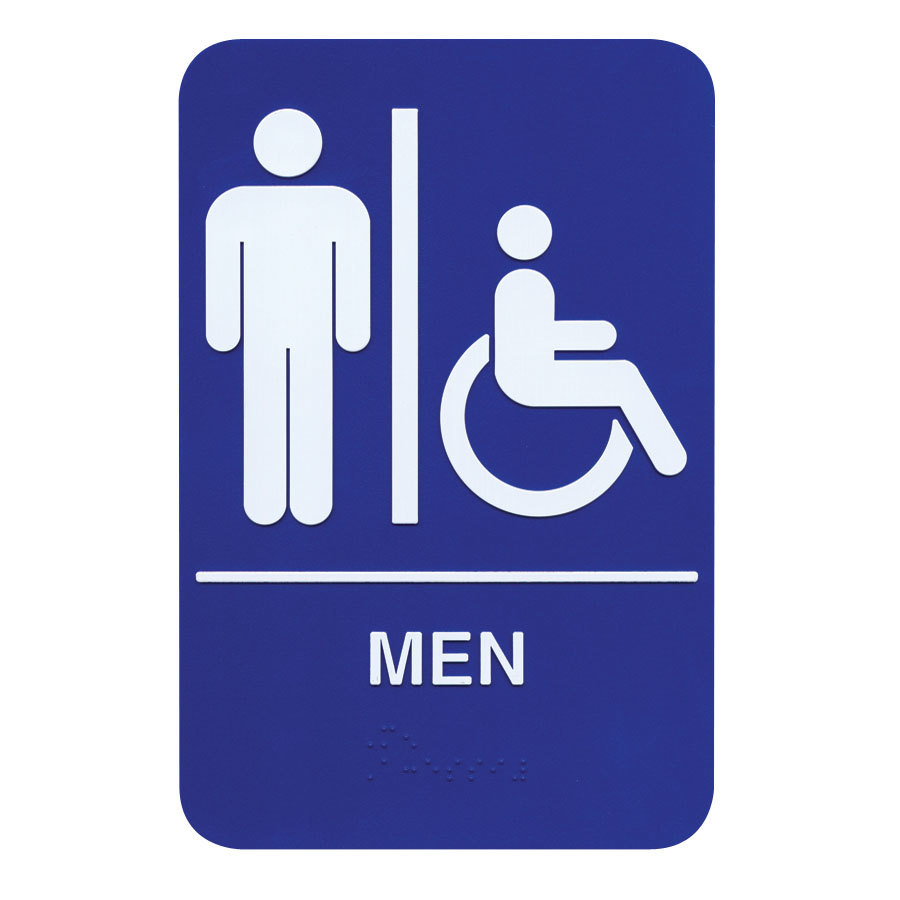 Braille Men Restroom Sign