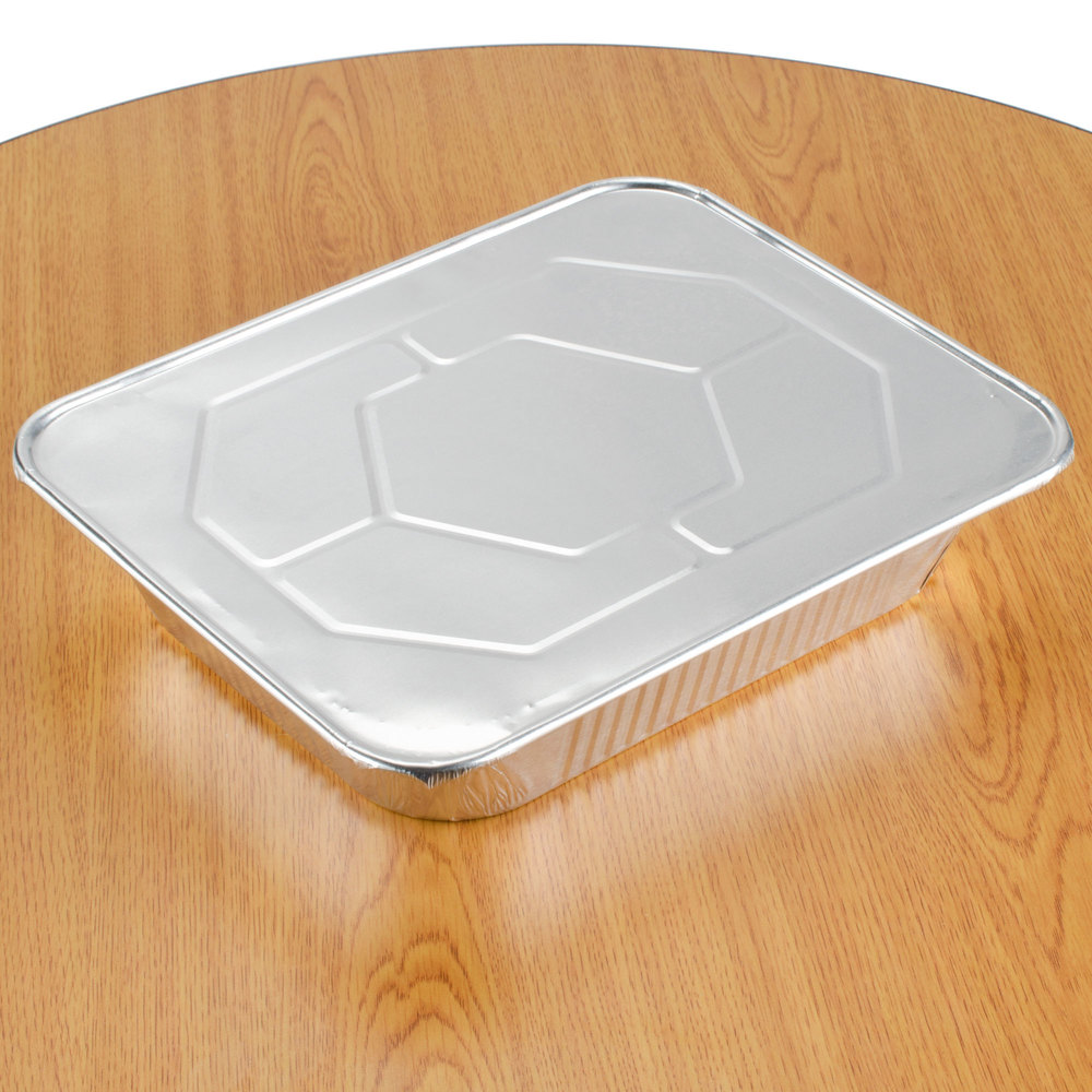 Choice 1/2 Size Foil Steam Table Pan Lid - 100 / Case