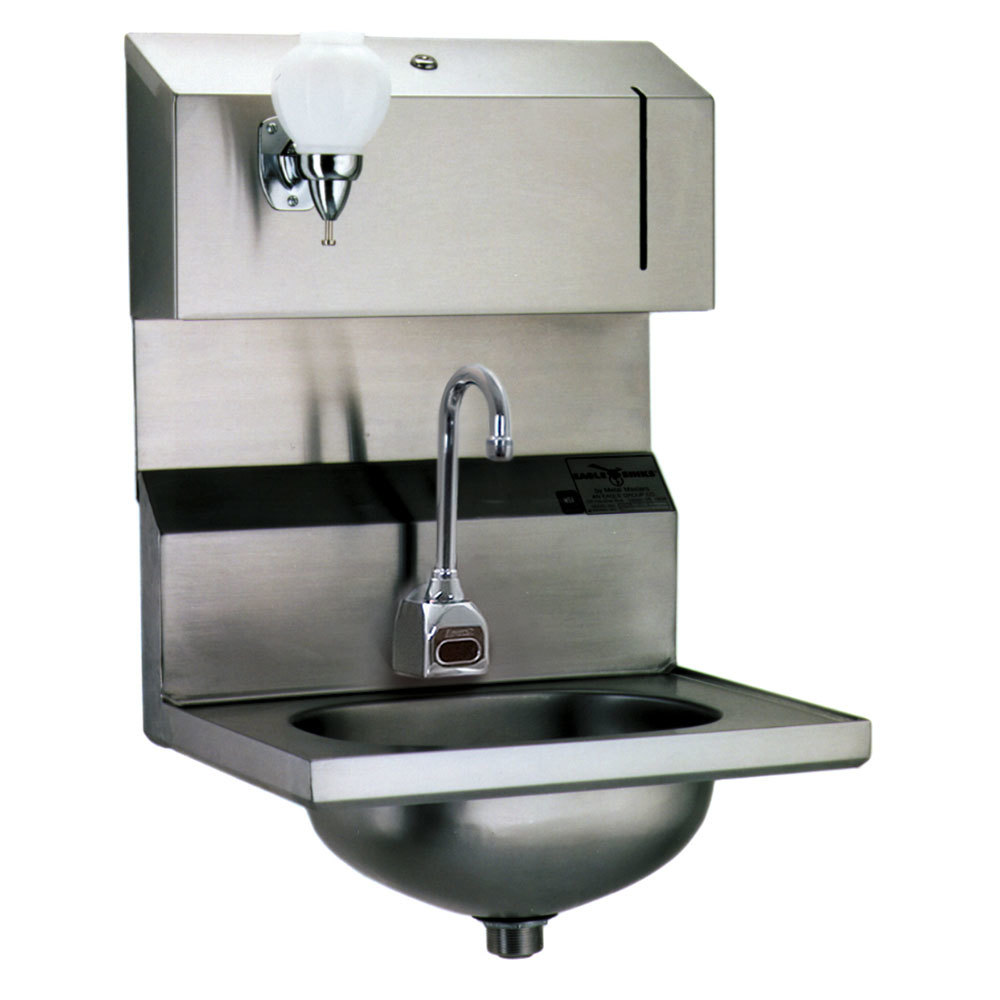 Eagle Group HSA-10-FDPE Electronic Hand Sink with Gooseneck Faucet ...