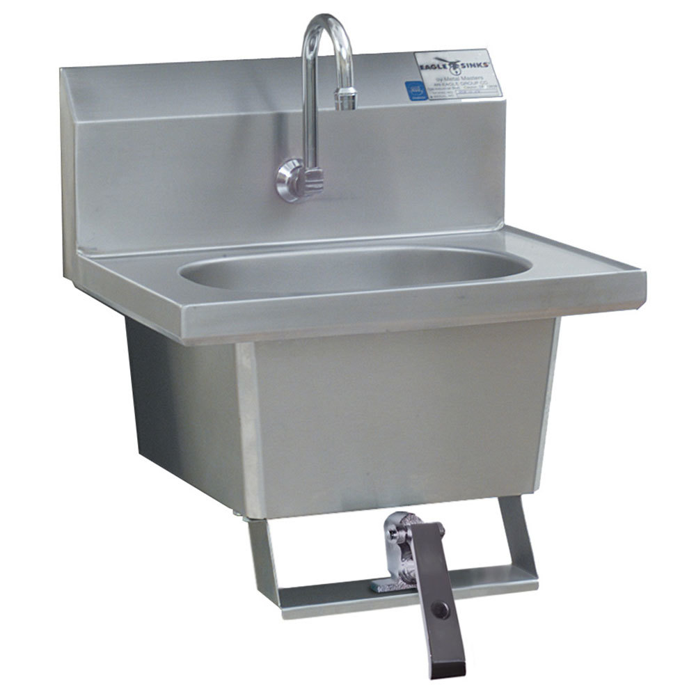 Eagle Group Hsa 10 1fk Knee Operated Wall Mount Hand Sink