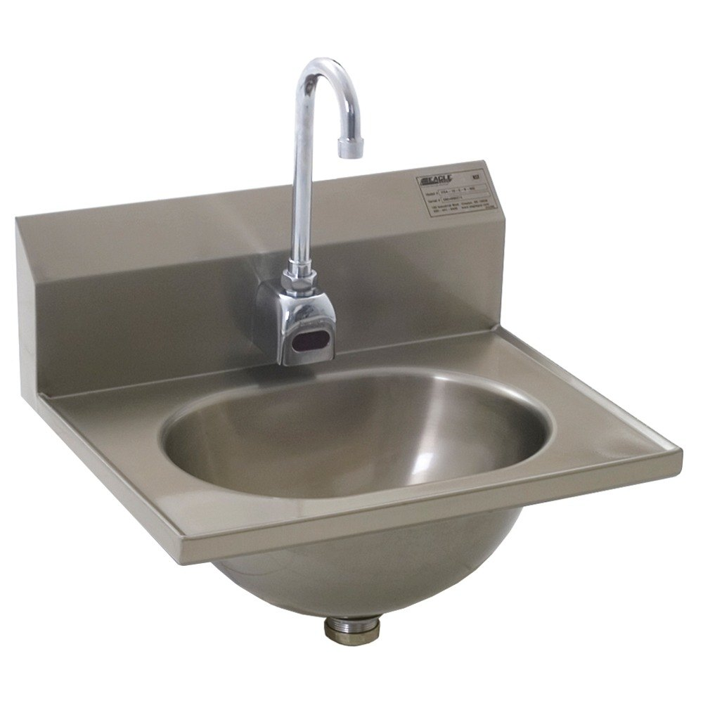 Eagle Group HSA-10-FE Electronic Hand Sink with Gooseneck Faucet and ...
