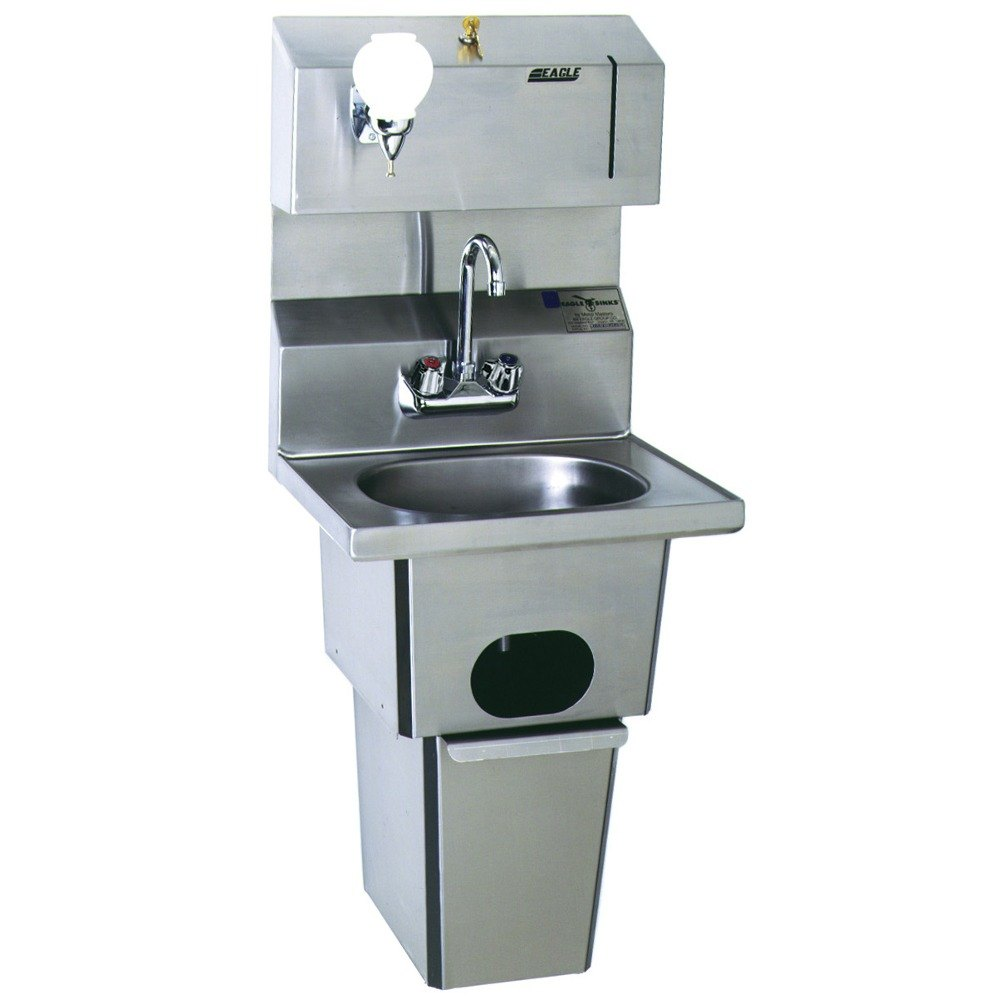 Eagle Group Hsa 10 Fdp T Mg Microgard Hand Sink With Gooseneck Faucet Towel Dispenser Soap