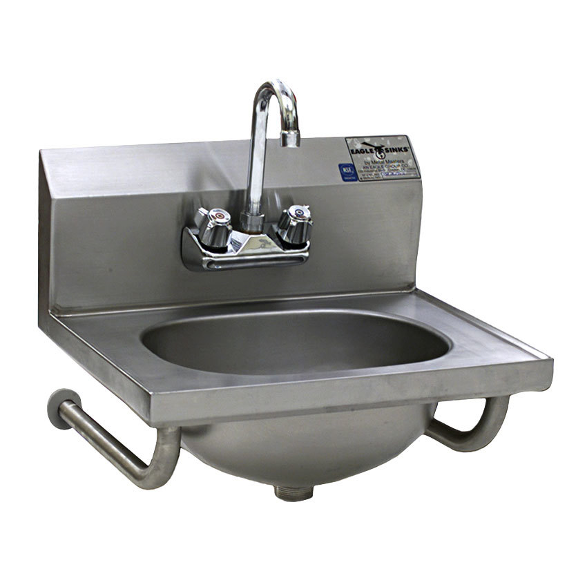 Eagle Group HSA-10-FTWS Hand Sink with Gooseneck Faucet, Basket Drain ...