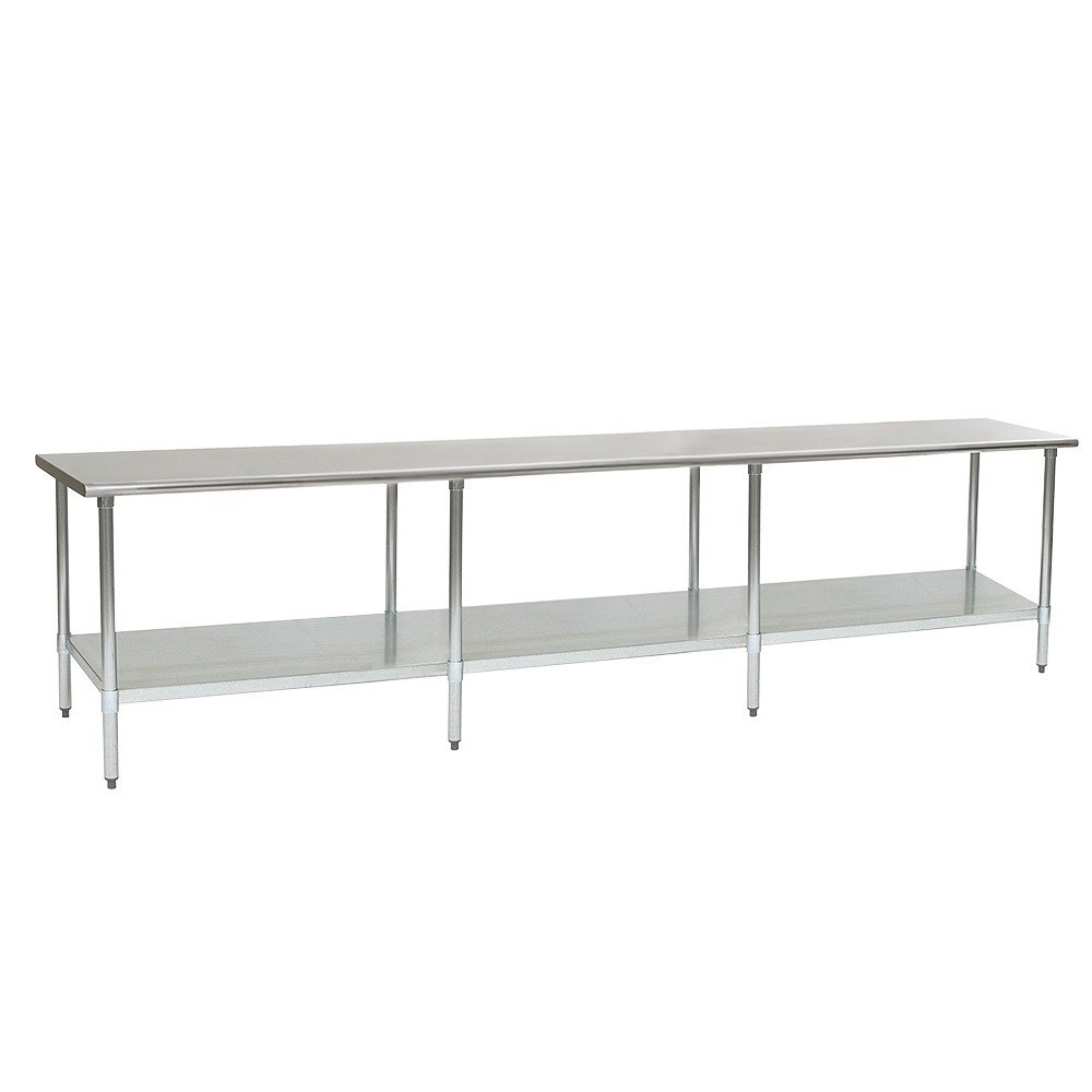"Eagle Group T30132B 30"" x 132"" Stainless Steel Work Table with Galvanized Undershelf"