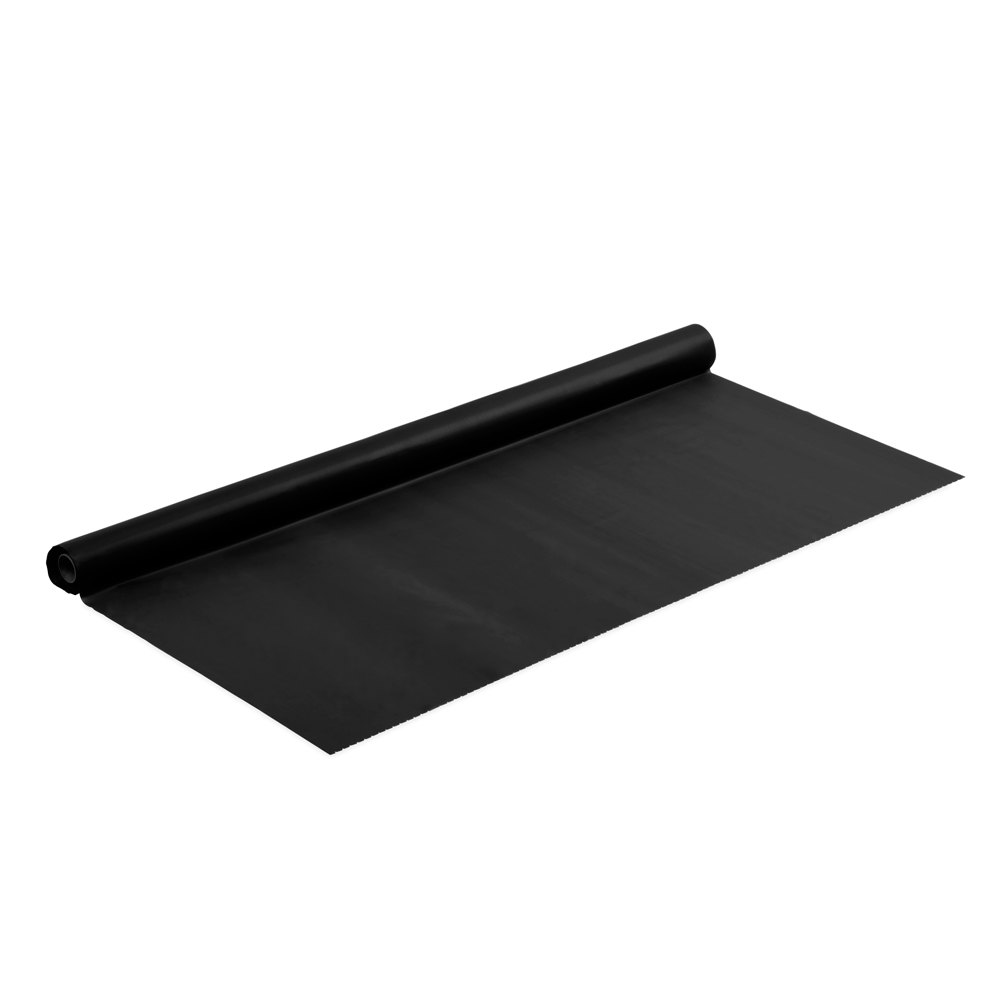 Black Velvet Plastic Tablecover - 100' Roll