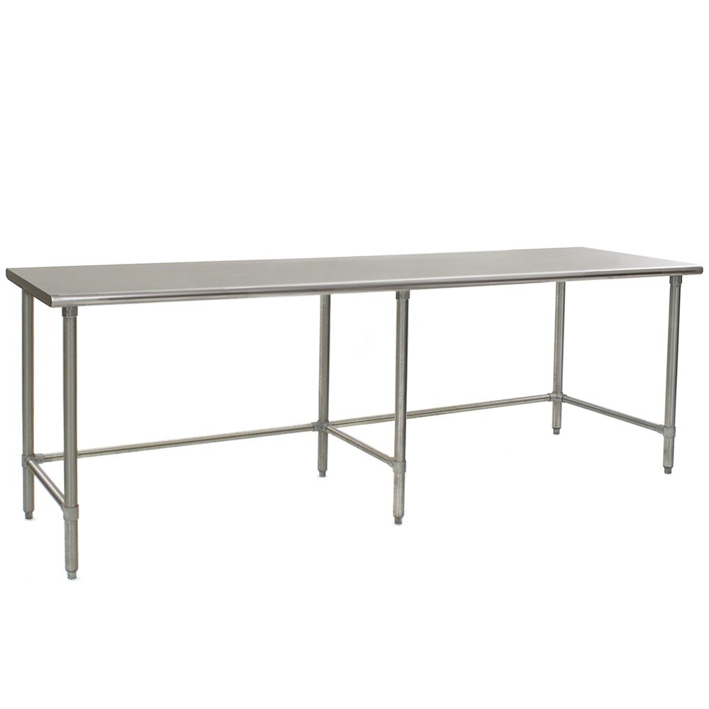 "Eagle Group T24120GTB 24"" x 120"" Open Base Stainless Steel Commercial Work Table"