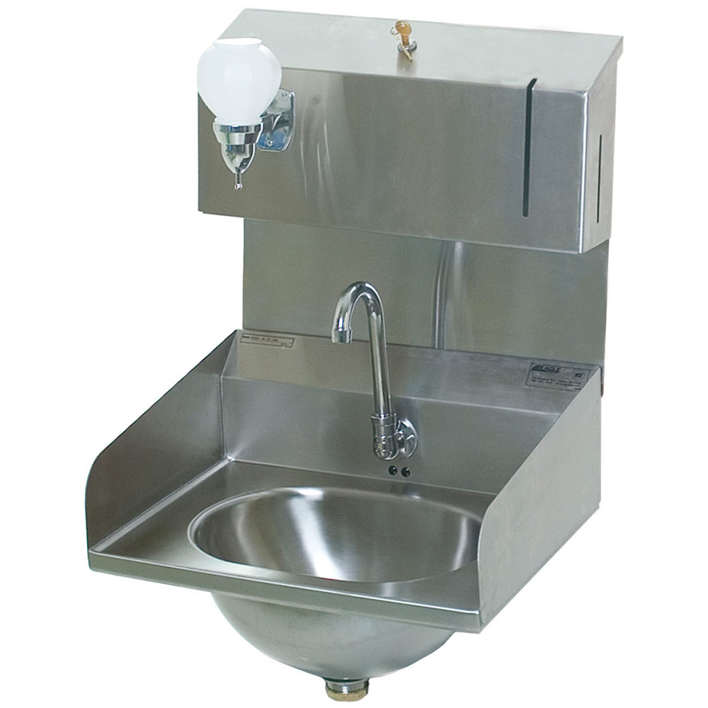 Eagle Group HSA-10-FDPE-LRS Electronic Hand Sink with Gooseneck ...