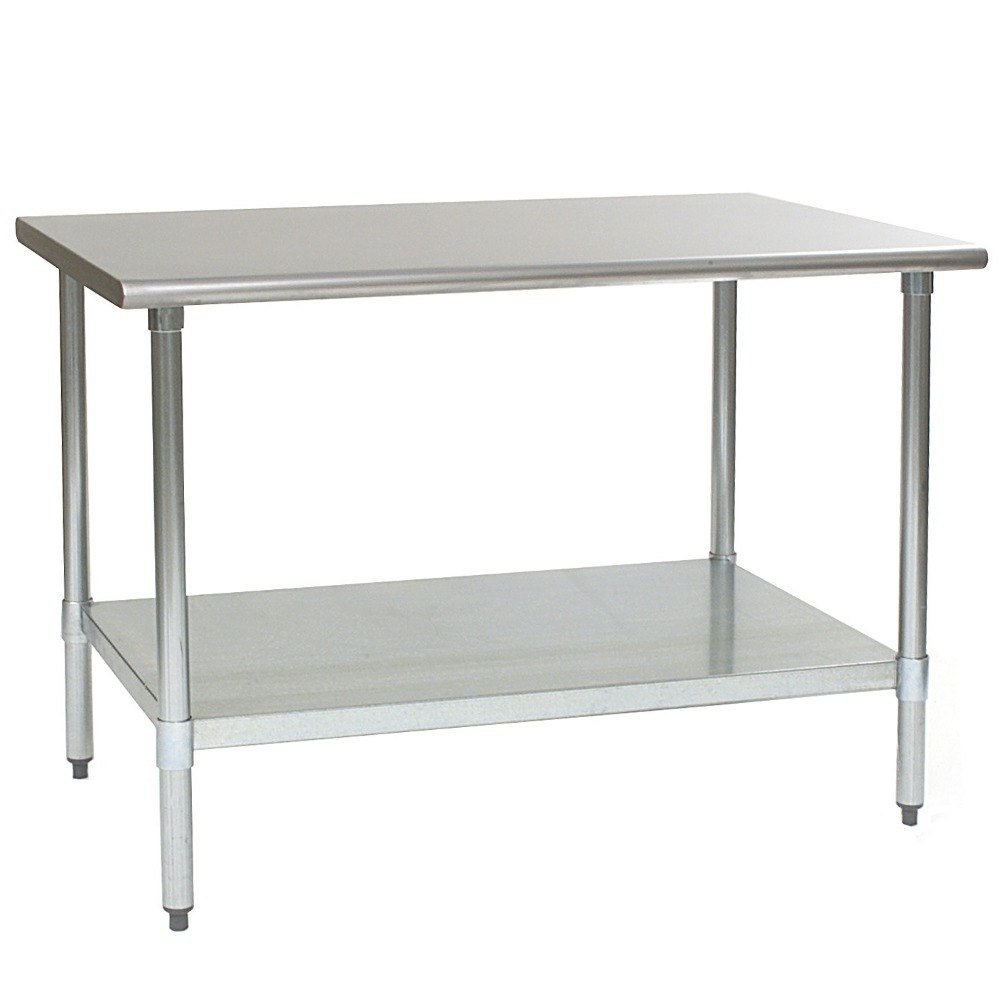 "Eagle Group T4860E 48"" x 60"" Stainless Steel Work Table with Galvanized Undershelf"