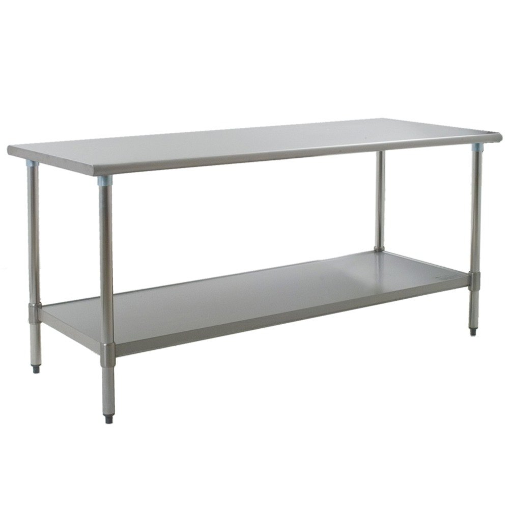 "Eagle Group T3672E 36"" x 72"" Stainless Steel Work Table with Galvanized Undershelf"