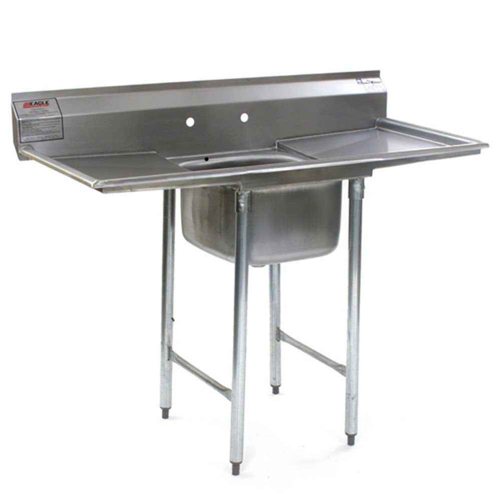 "Eagle Group 414-16-1-18 One 16"" Bowl Stainless Steel Commercial Compartment Sink with Two 18"" Drainboards at Sears.com"