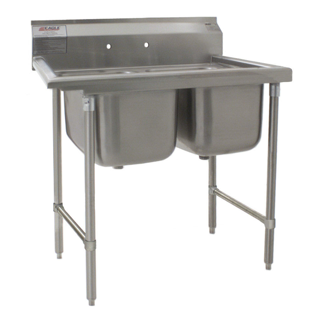 Stainless Industrial Sink : ... 412-16-2 Two 16