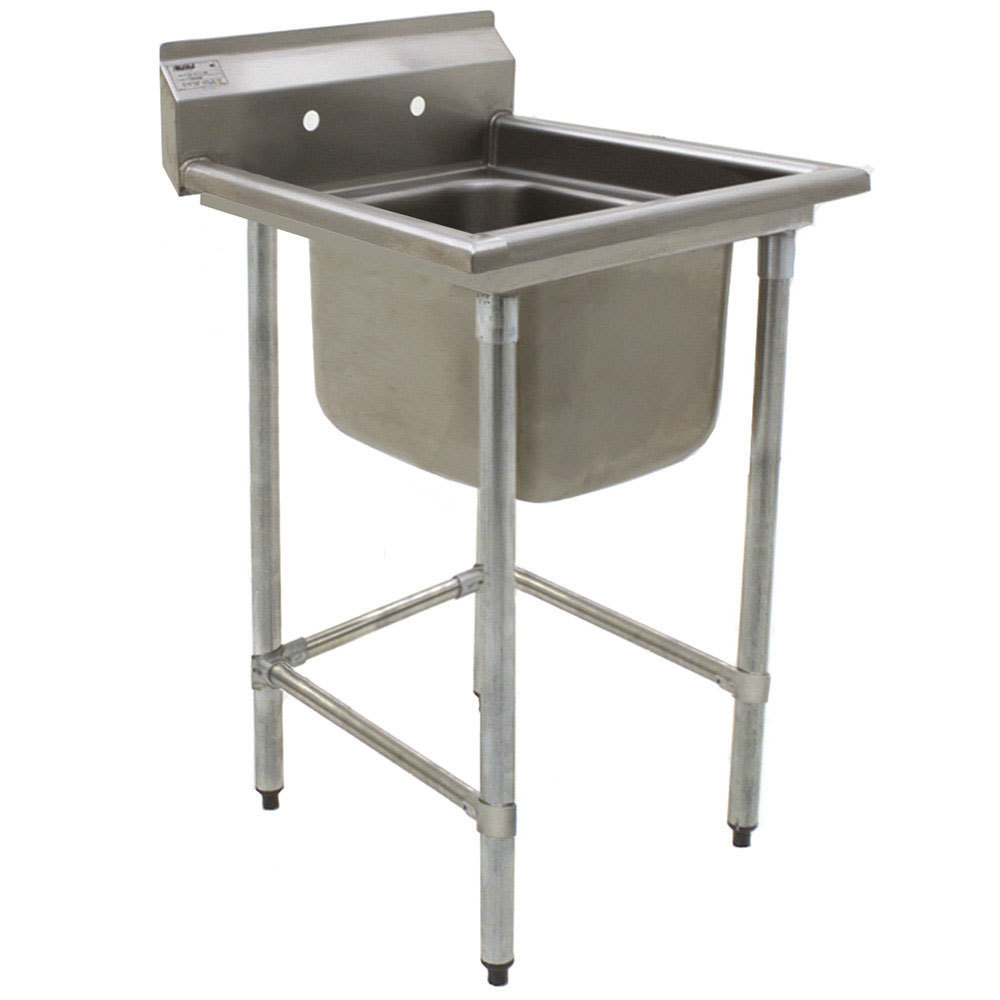 "Eagle Group S16-20-1 One 20"" x 20"" Bowl Stainless Steel Fabricated Compartment Sink"