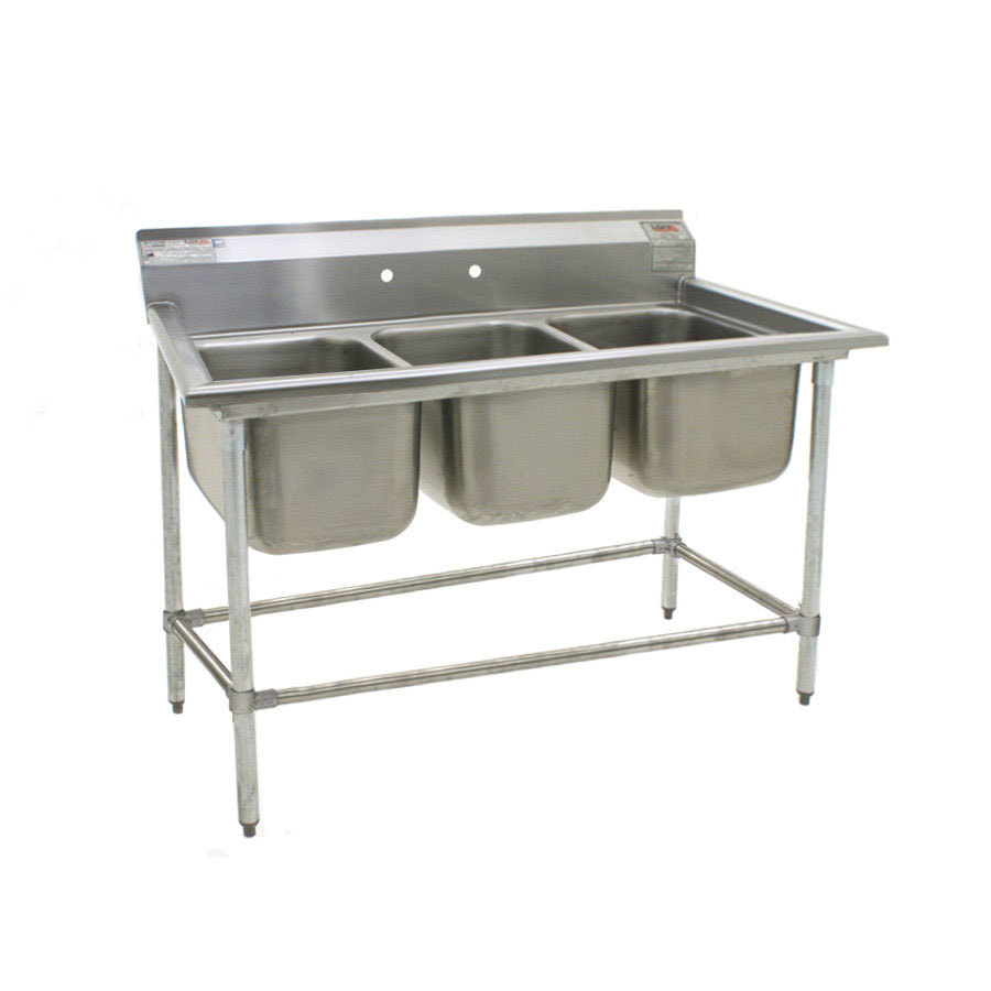 Stainless Industrial Sink : ... 412-16-3 Three 16