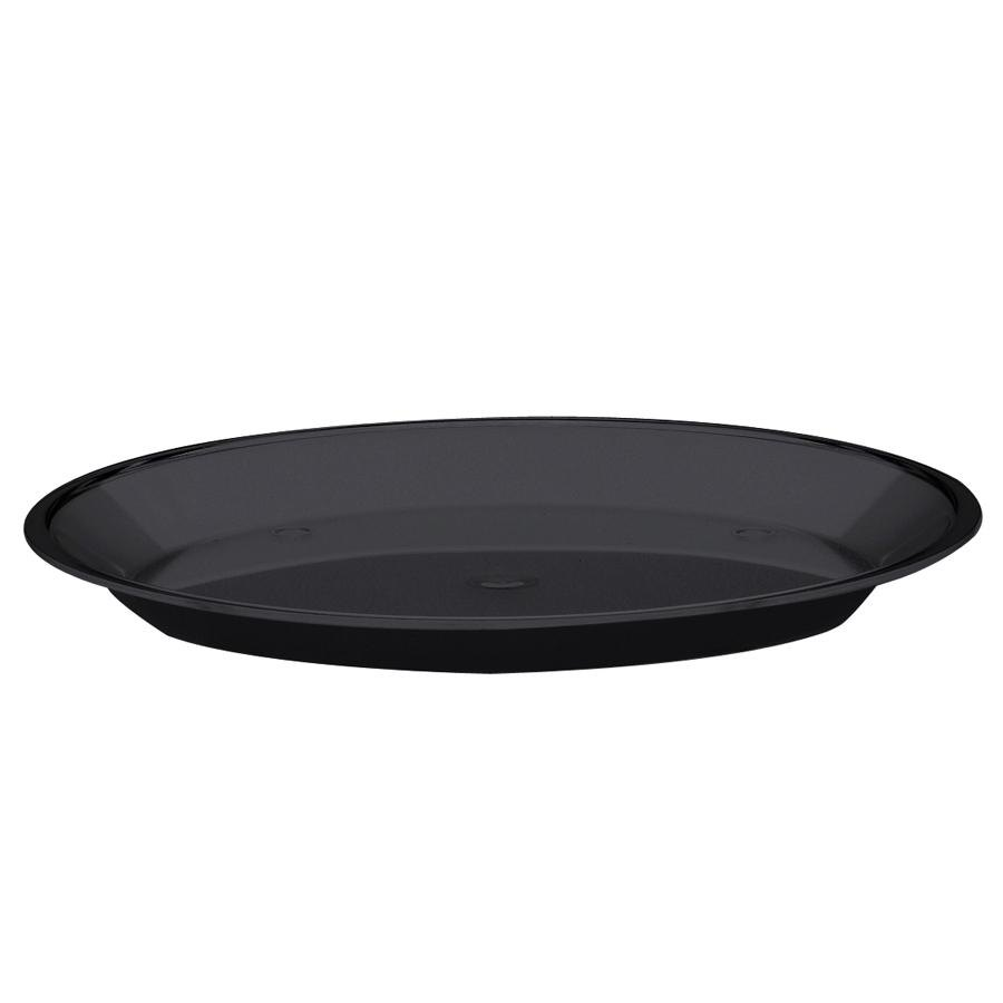 "Cal-Mil 315-12-13 Black Turn N Serve Shallow Tray for 12"" Cal-Mil Sample Dome Covers"