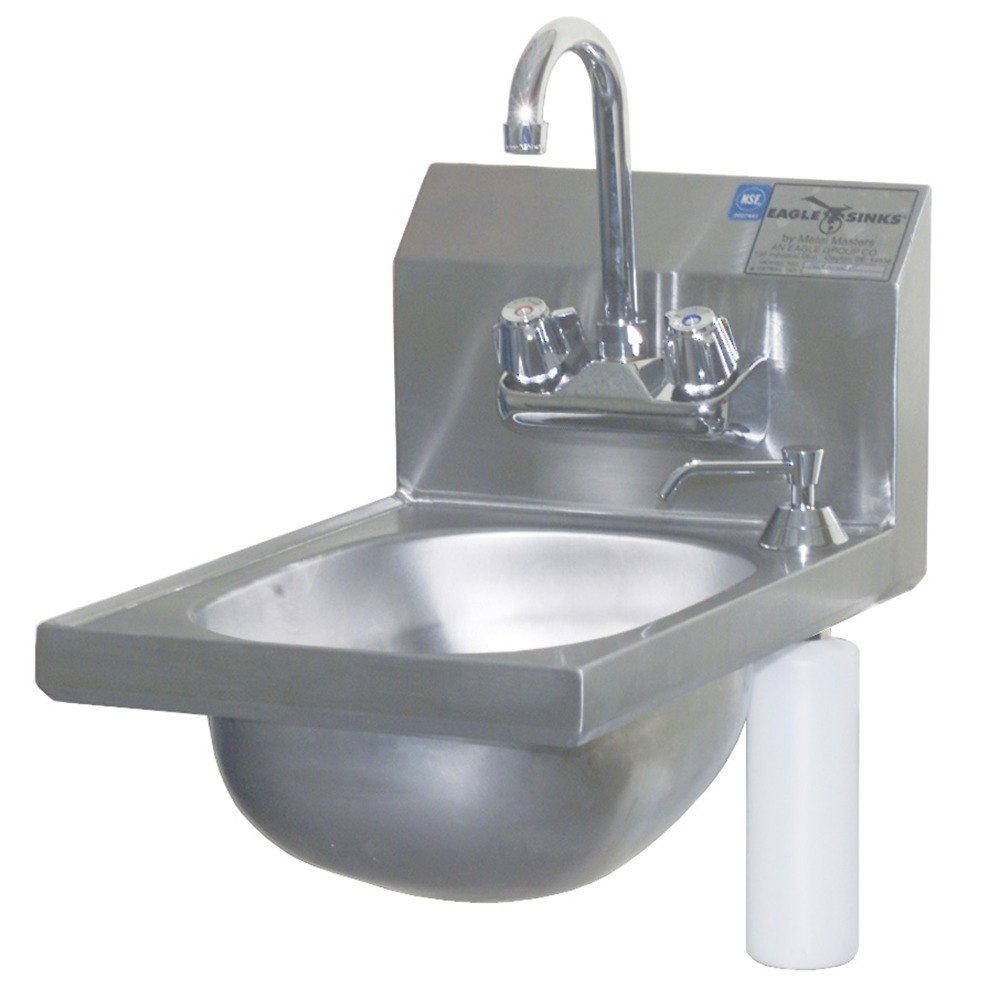 Eagle Group Hsan 10 F Ds 17 3 4 Quot X 12 1 8 Quot Hand Sink With