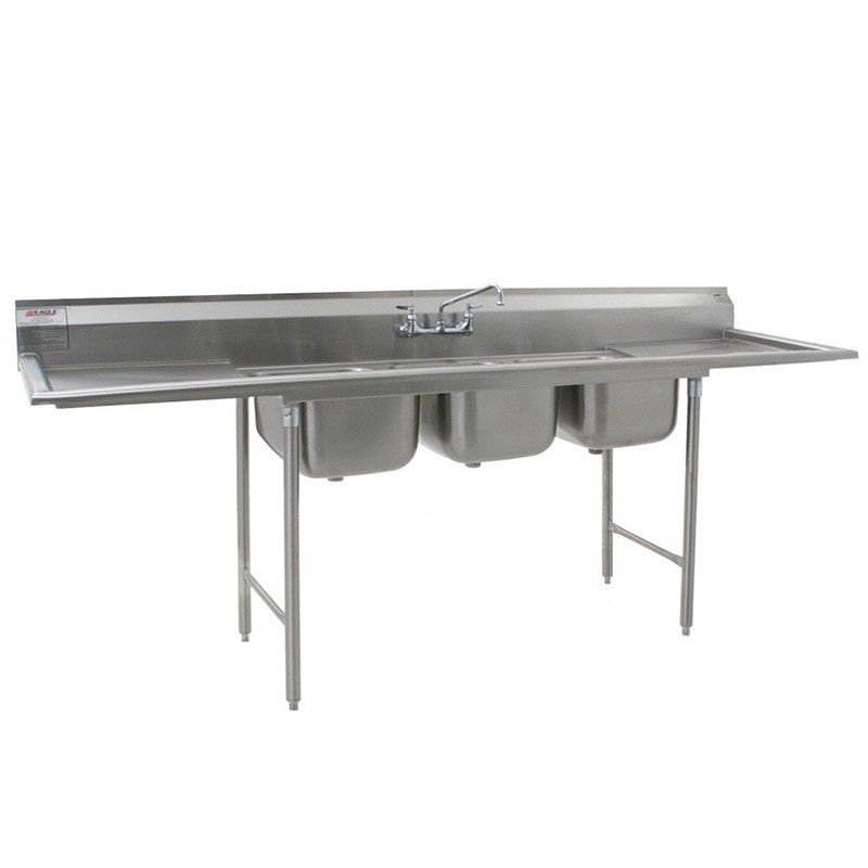 Compartment Sink : ... Stainless Steel Commercial Compartment Sink with Two 24