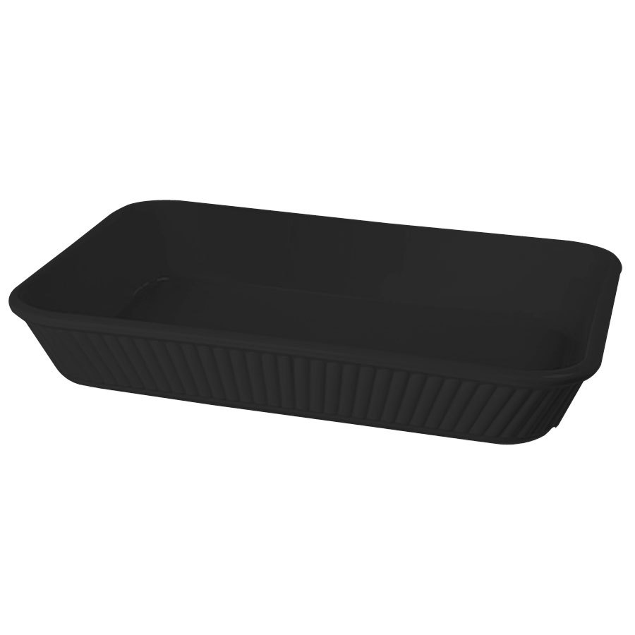 "GET ML-156-BK 3 Qt. 13 1/4"" x 9"" Rectangular Casserole Dish 2"" Deep 6/Case - Black"
