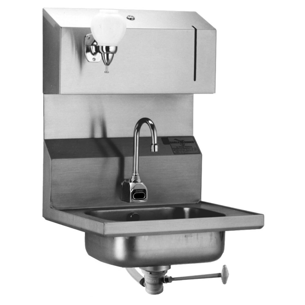 Towel Soap Dispenser ~ Eagle group hsa fodpe electronic hand sink with
