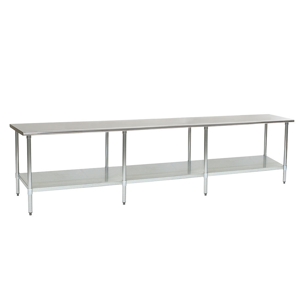 "Eagle Group T24144SB 24"" x 144"" Stainless Steel Work Table with Undershelf"