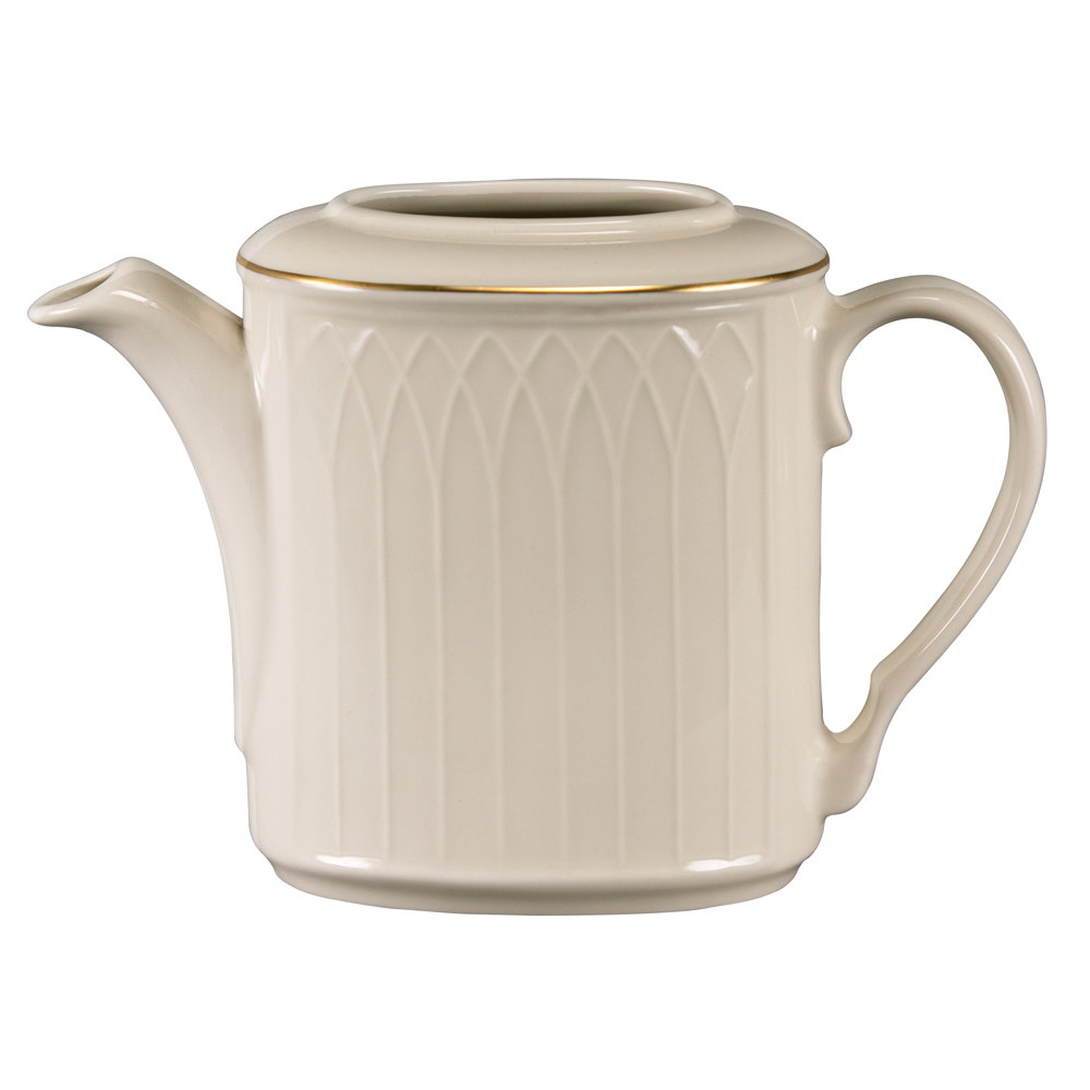 Homer Laughlin 1420-0325 Westminster Gothic Replacement Body for 23 oz. Beverage Server - Off White 12 / Case