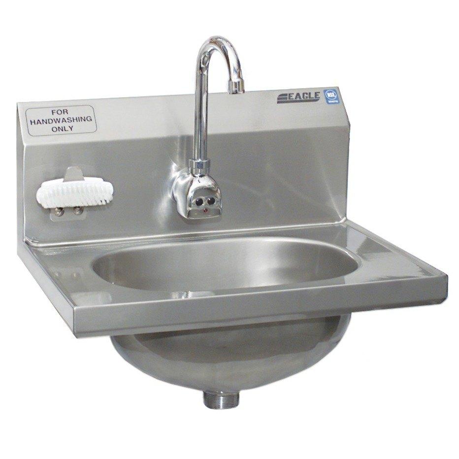 Eagle Sinks : Eagle Group HSA-10-FE-B-NB-MG MicroGard Hand Sink with Gooseneck ...