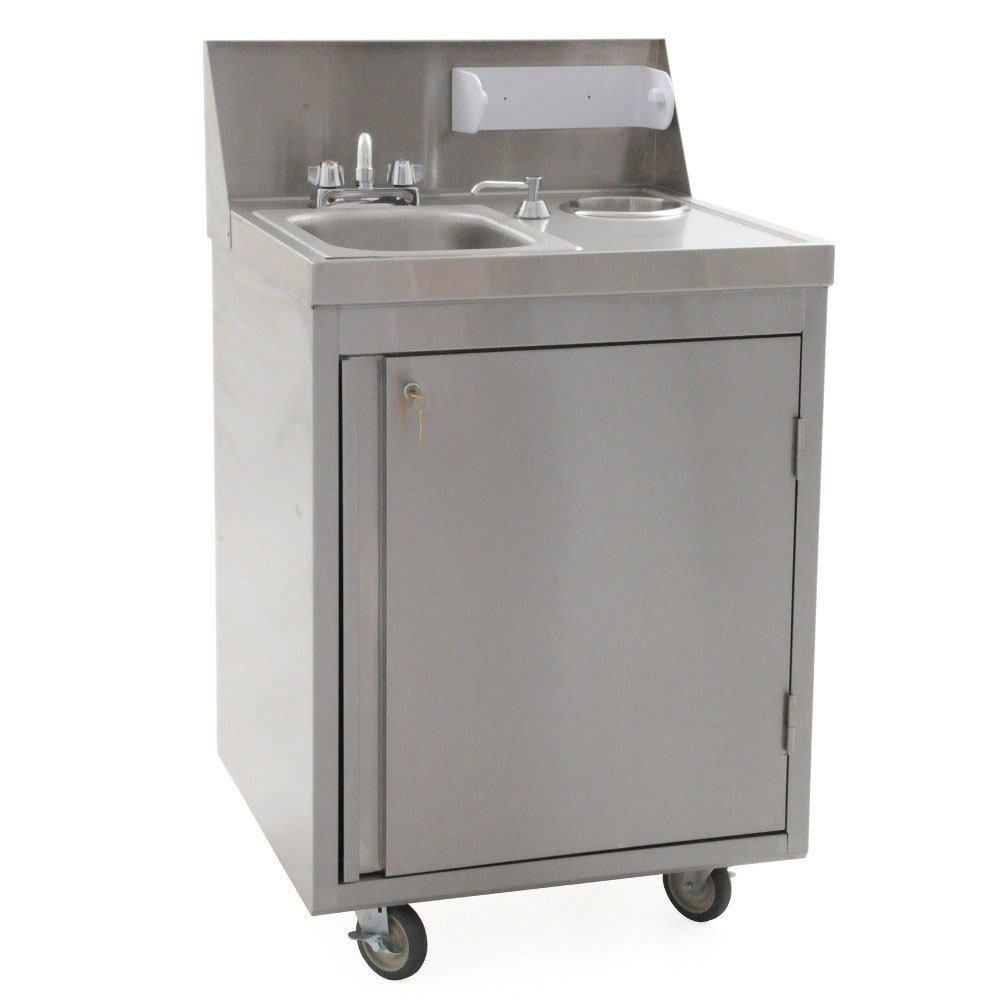 Portable Stainless Steel Sink : ... PHS-S-H Hot and Cold Water Portable Sink with Stainless Steel Bowl