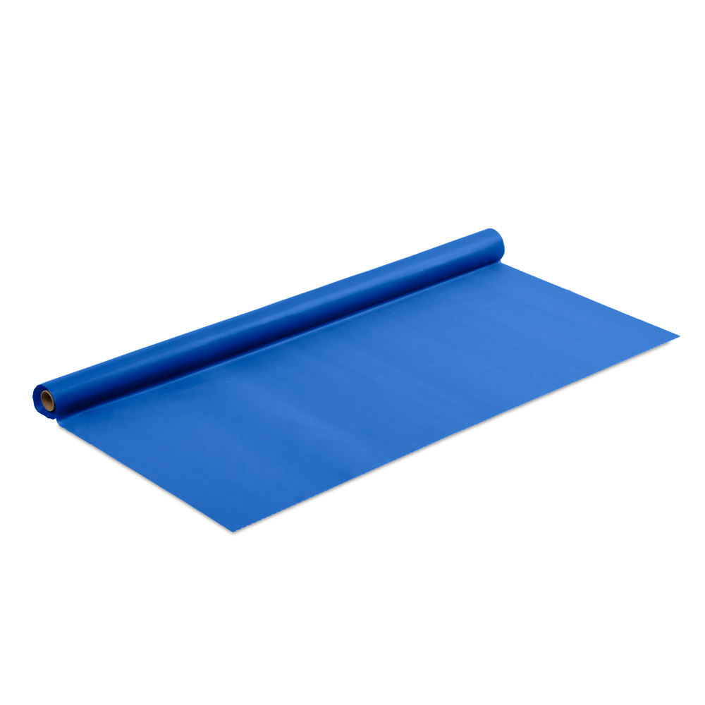 True Blue Plastic Tablecover - 100' Roll