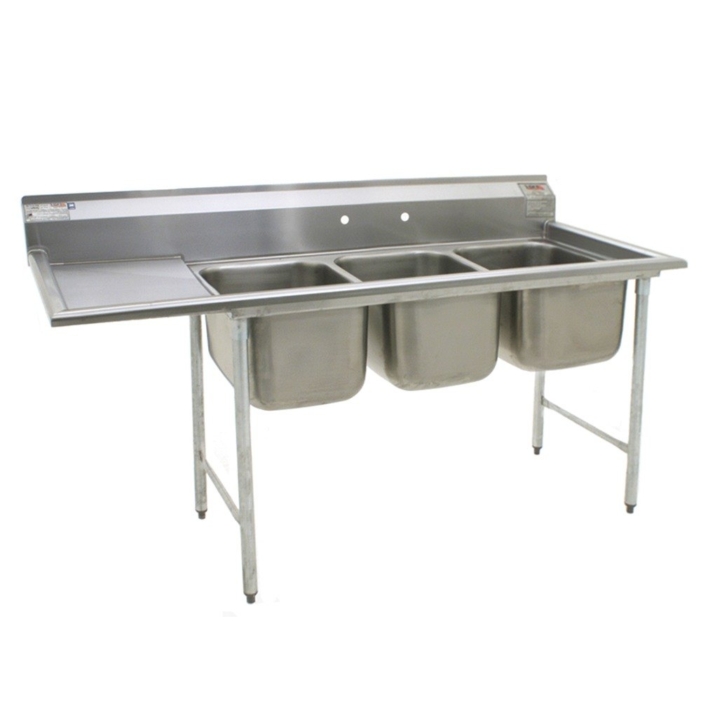 ... Stainless Steel Commercial Sink with One Drainboard - 74 3/8