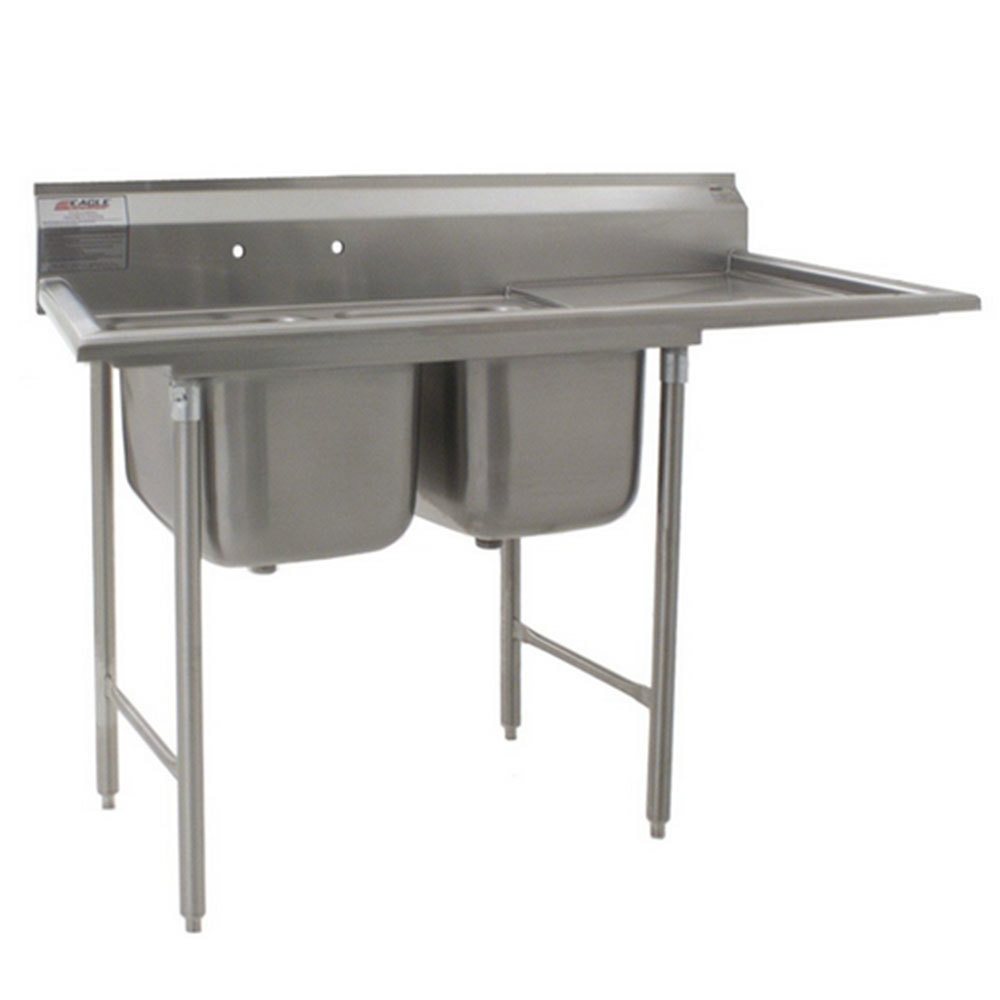 ... Stainless Steel Commercial Sink with One Drainboard - 60 3/4
