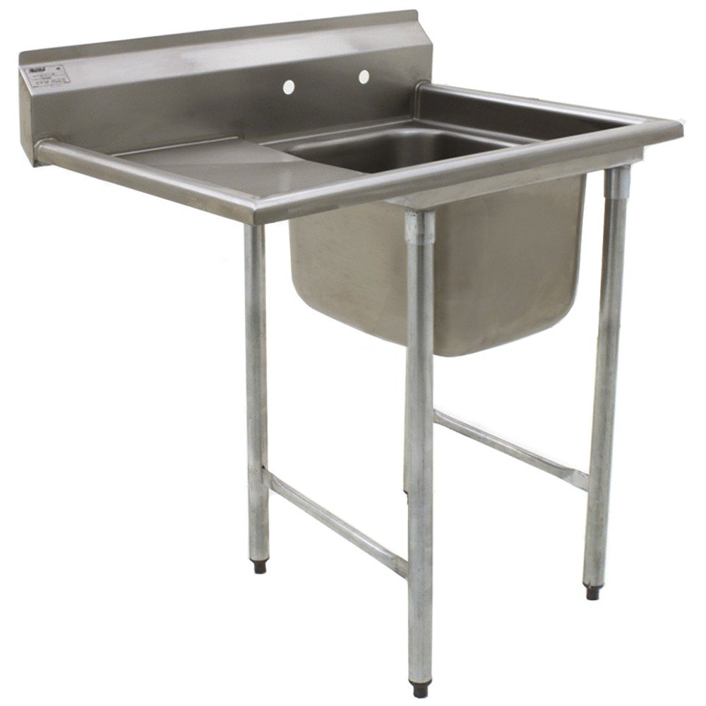 "Eagle Group 412-16-1-24 One 16"" Bowl Stainless Steel Commercial Compartment Sink with 24"" Drainboard"