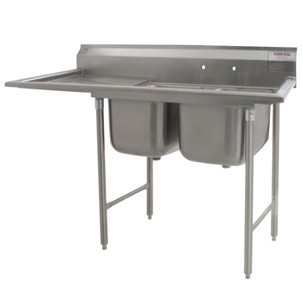 ... Stainless Steel Commercial Compartment Sink with Drainboard at Sears