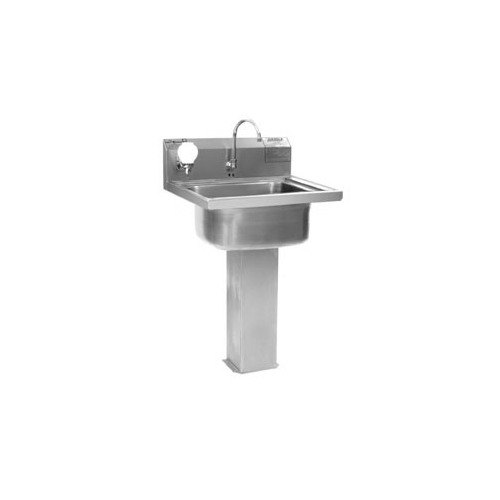 ... P1916FE Stainless Steel Pedestal Hand Sink with Electronic Faucet