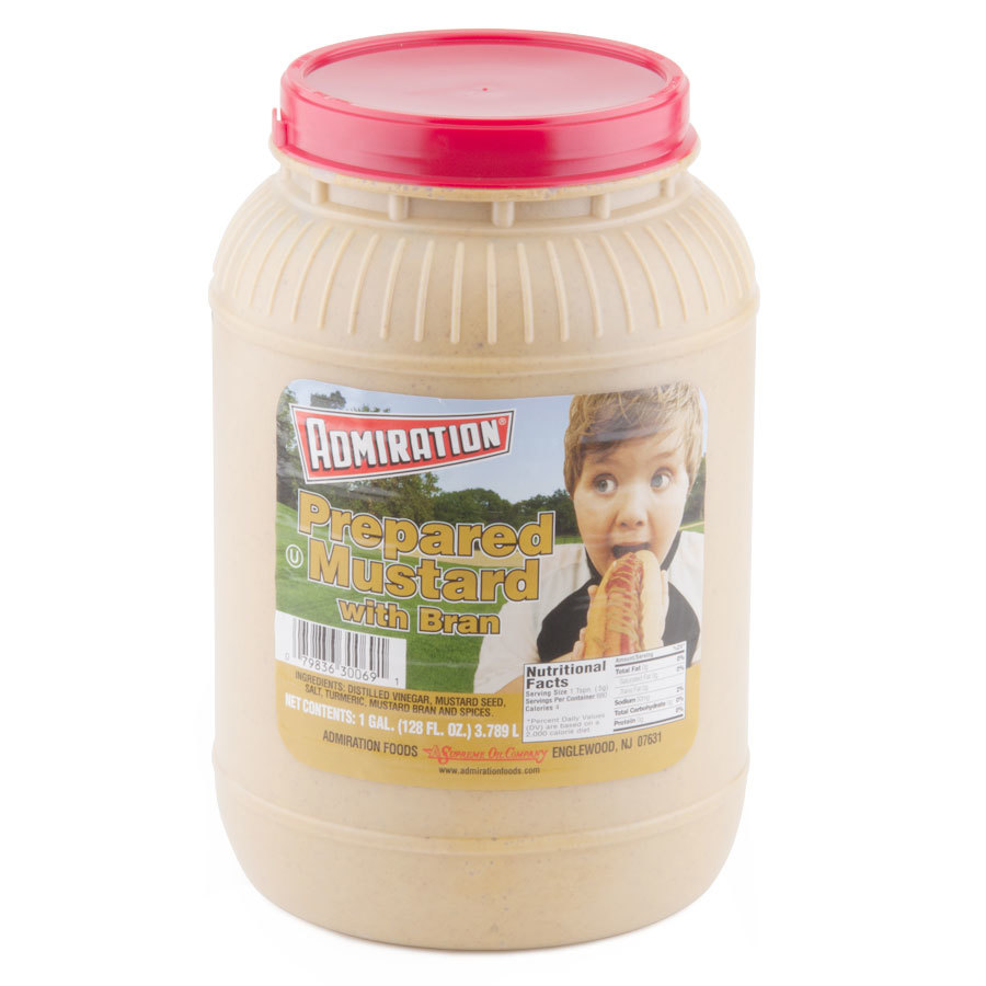 Admiration Mustard With Bran 1 Gallon Containers - 4/Case