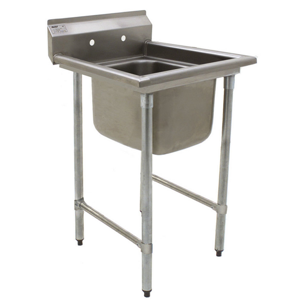"Eagle Group 412-24-1 31 3/4"" x 31 1/2"" One Bowl Stainless Steel Commercial Compartment Sink"