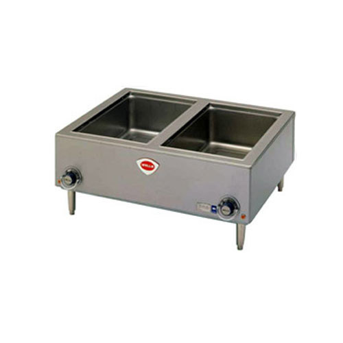 "Wells TMPTD 12"" x 20"" Two Pan Countertop Food Warmer with Drain"