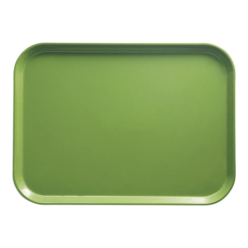 "Cambro 1216113 12"" x 16 5/16"" Rectangular Lime-ade Fiberglass Camtray - 12 / Case"