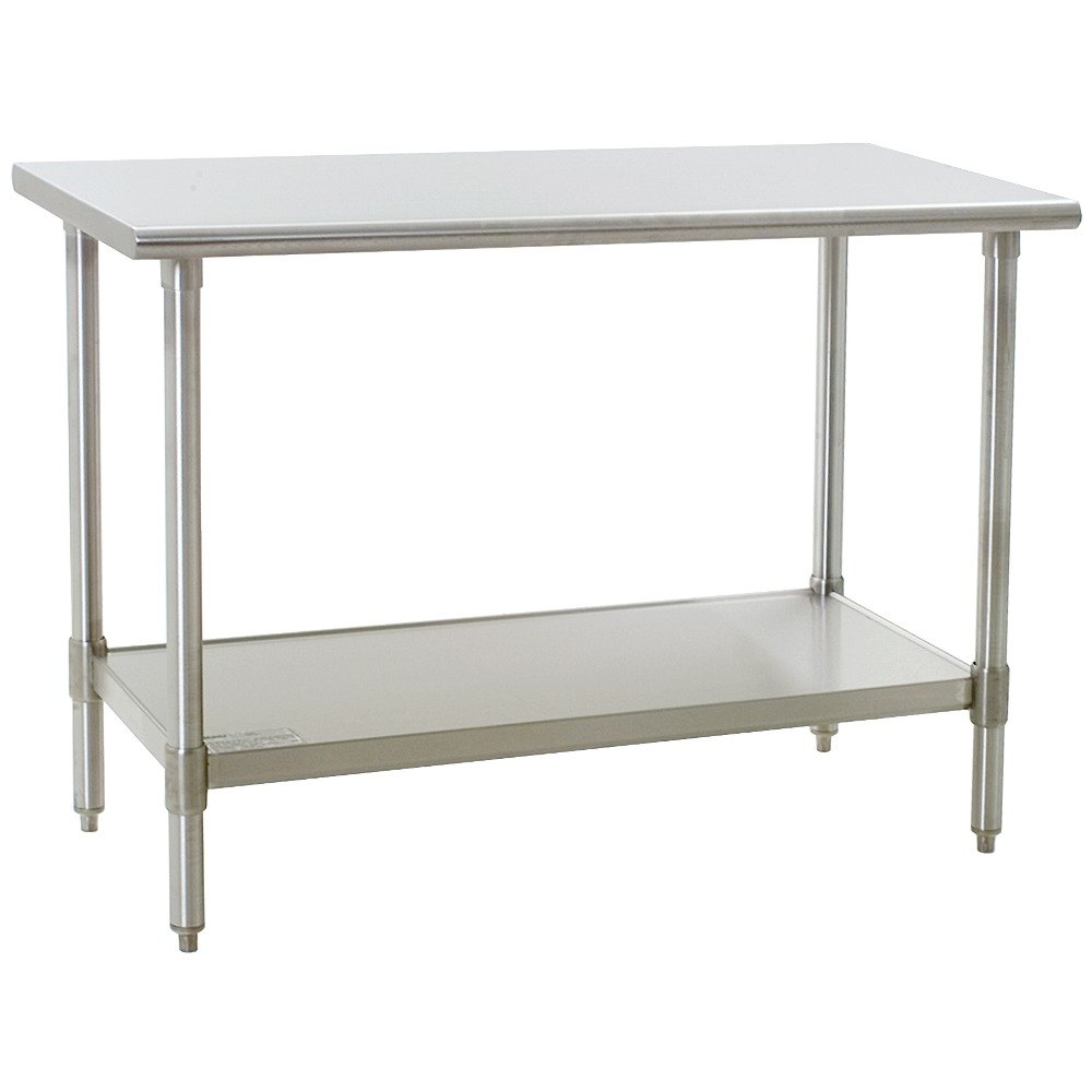 "Eagle Group T2436SEM 24"" x 36"" Stainless Steel Work Table with Undershelf"