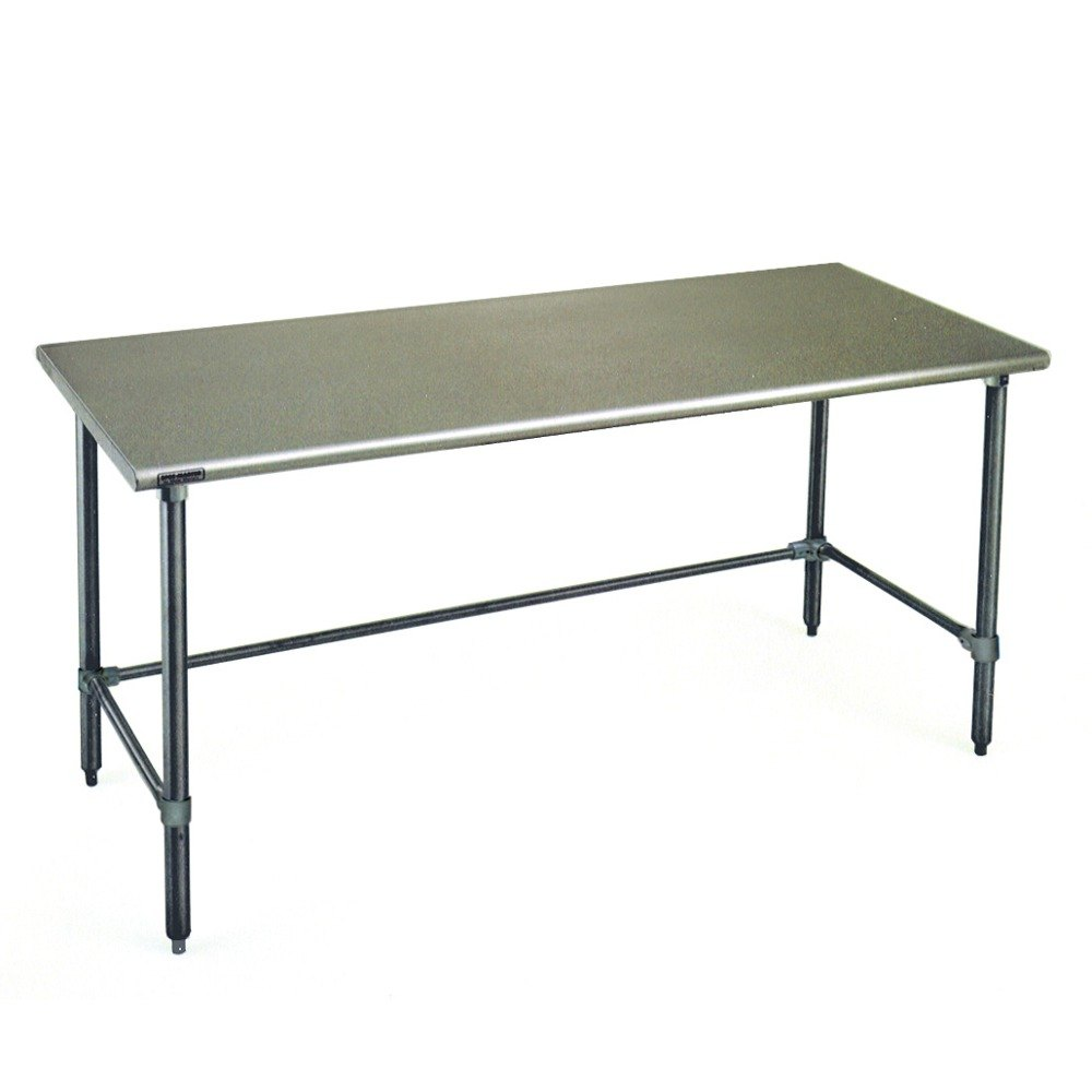 "Eagle Group T3084STB 30"" x 84"" Open Base Stainless Steel Commercial Work Table"