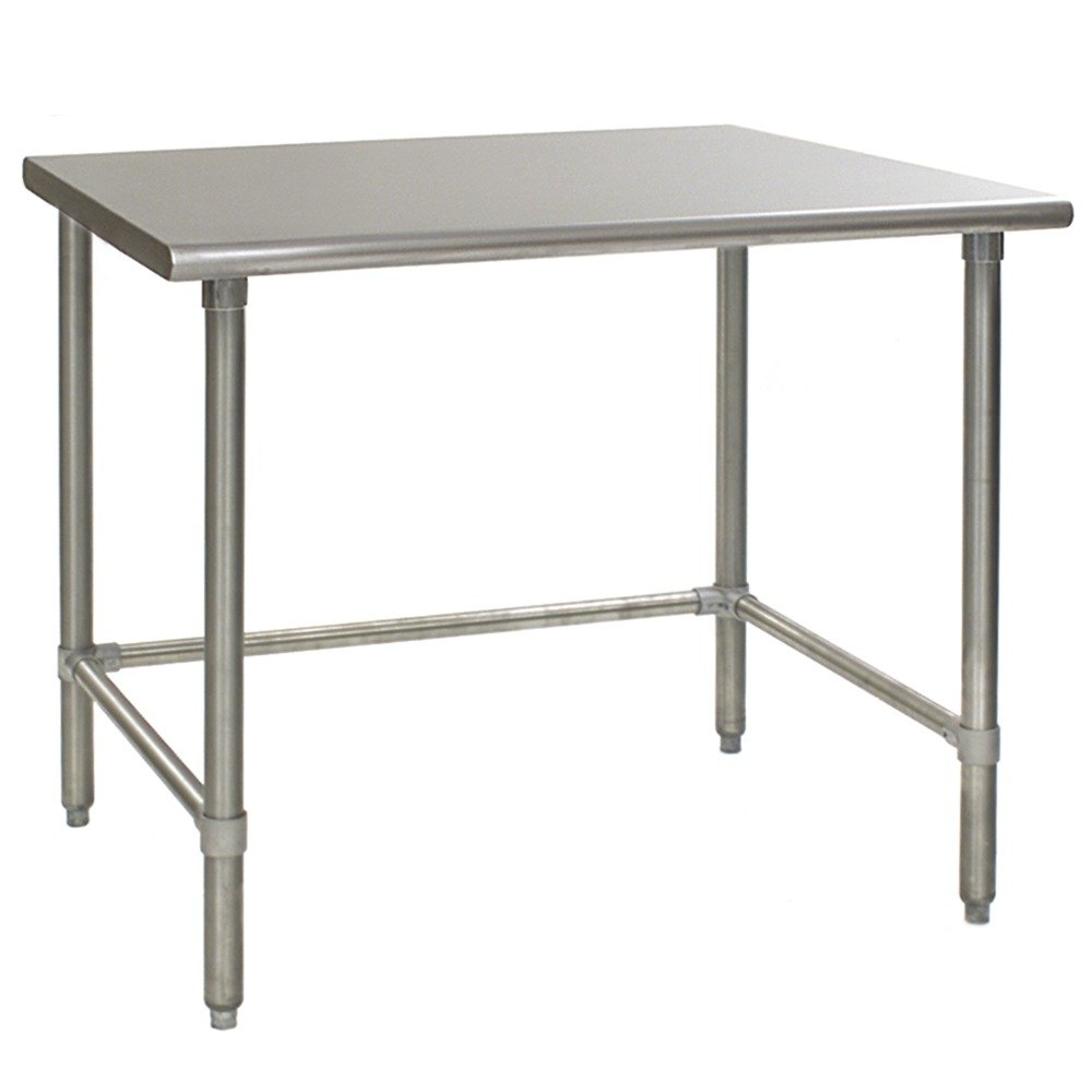 "Eagle Group T2460STE 24"" x 60"" Open Base Stainless Steel Commercial Work Table"