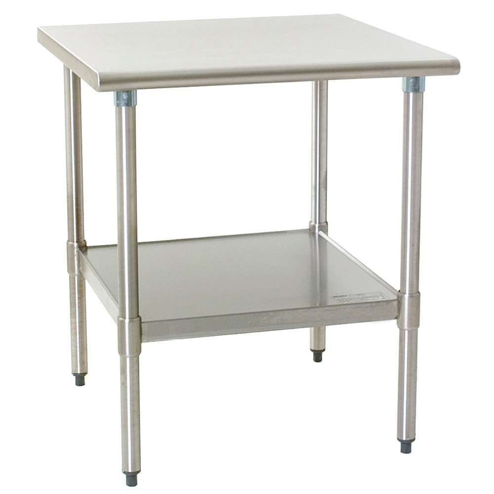 "Eagle Group T4848SEM 48"" x 48"" Stainless Steel Work Table with Undershelf"
