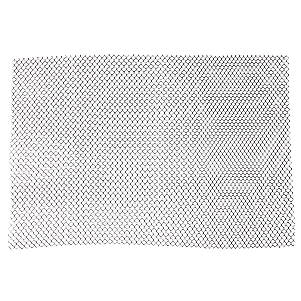 2 Black Plastic Mesh Bar Mat Black Shelf Liner