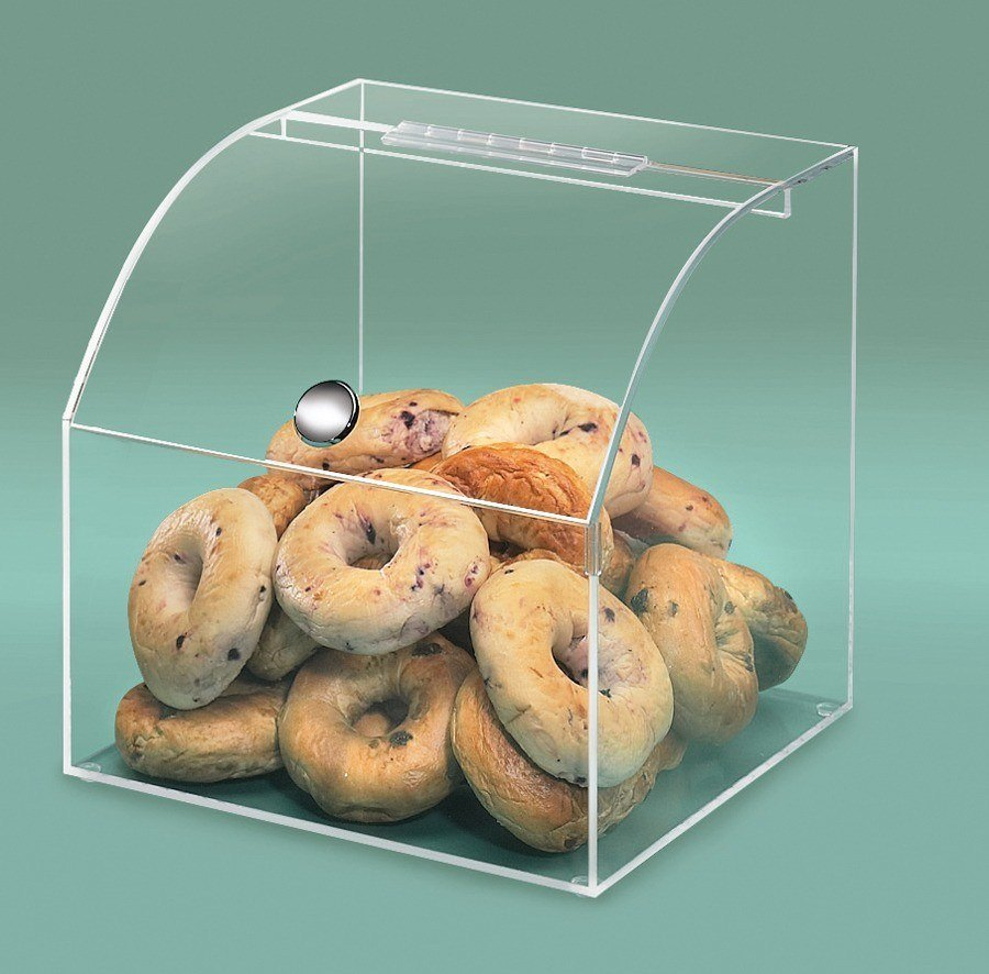 Cal Mil 945 Curved Front Bakery Display Case 12 1/2 inch Square