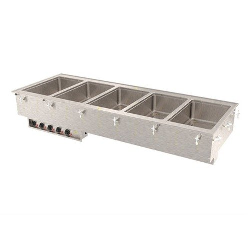 Vollrath 3640880 Modular Drop In Five Compartment Hot Food Well with Thermostatic Controls, Manifold Drain, and Auto-Fill - 208V at Sears.com