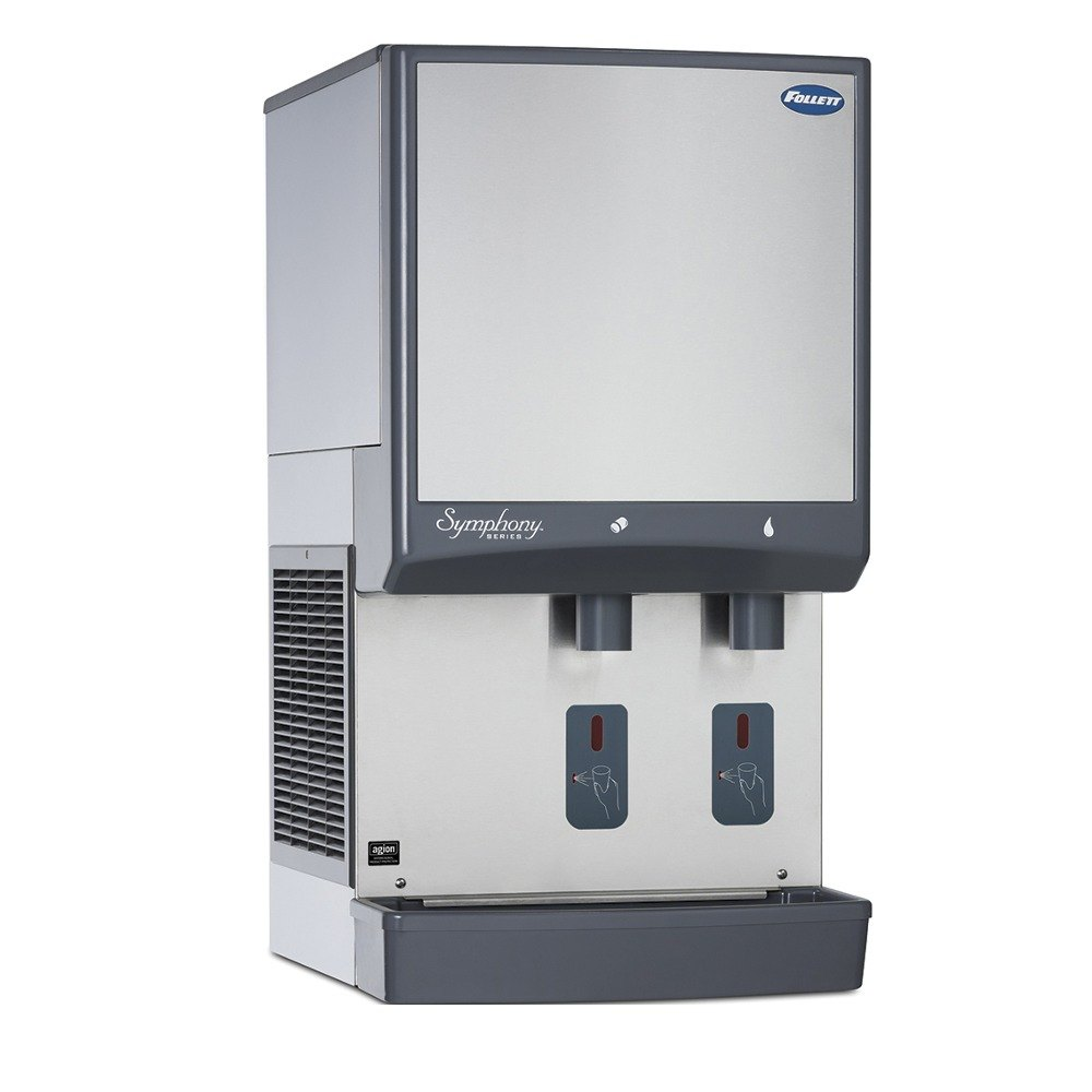 Follett 50CI400A-S Symphony Countertop Air Cooled Ice Maker and Water ...