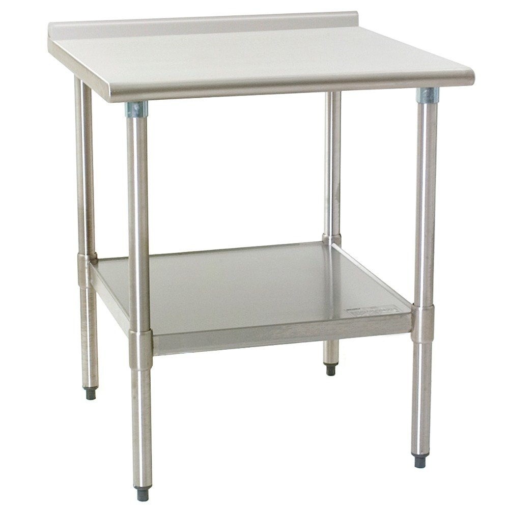 "Eagle Group UT3036EB 30"" x 36"" Stainless Steel Work Table with Undershelf and 1 1/2"" Backsplash at Sears.com"