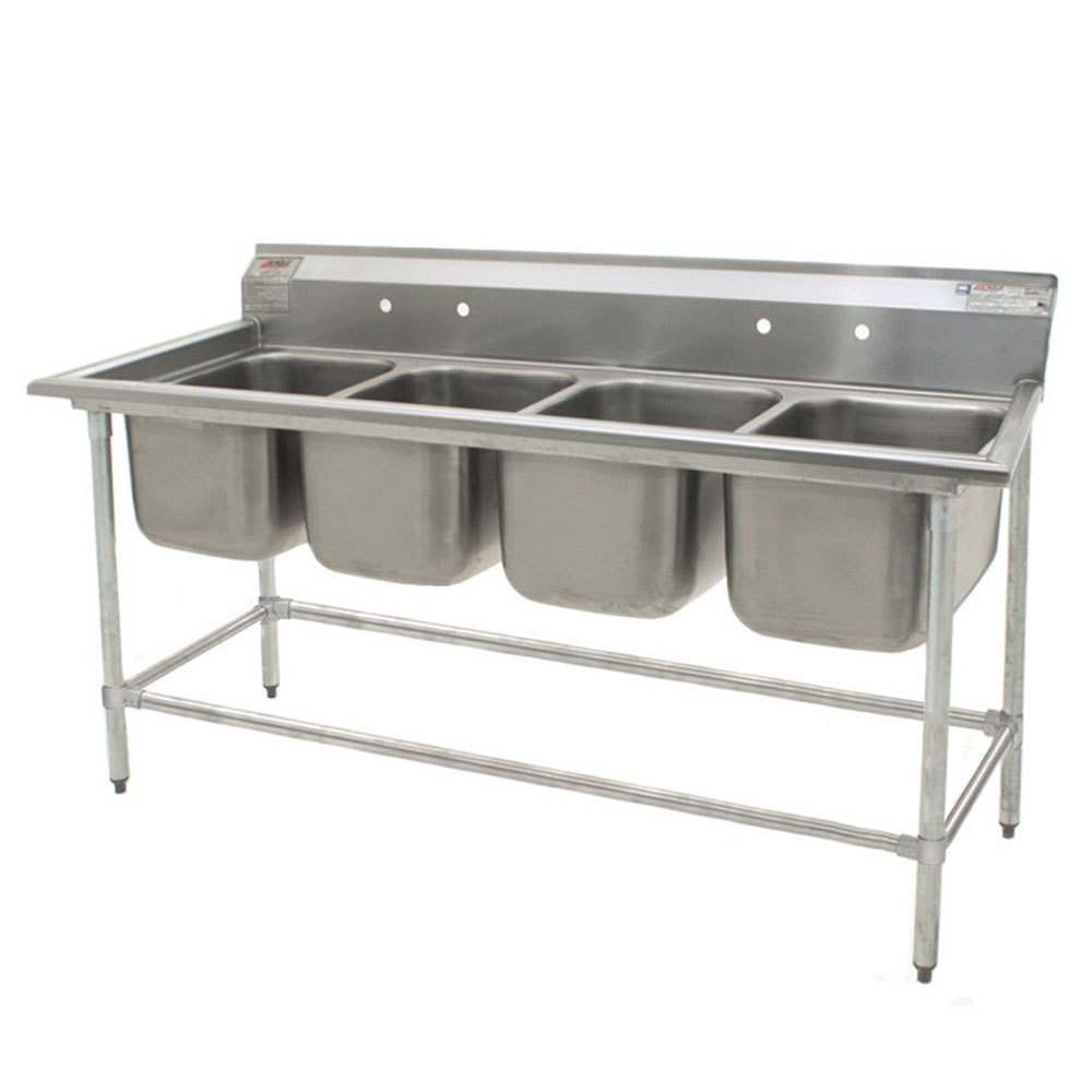 ... Stainless Steel Commercial Sink without Drainboards - 76 1/2
